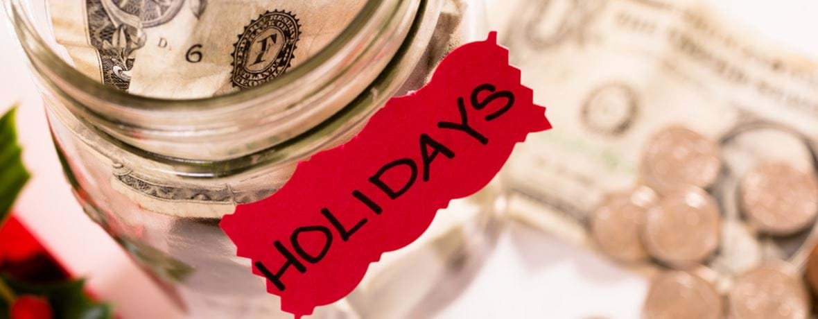 Holiday savings jar